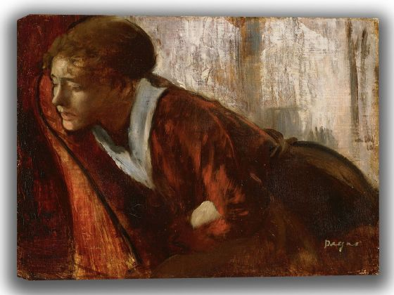 Degas, Edgar: Melancholy. Fine Art Canvas. Sizes: A4/A3/A2/A1 (003753)